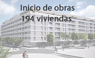 INICIO DE OBRA VIVE PARQUE INGENIEROS, 194 VIVIENDAS PROTEGIDAS EN MADRID